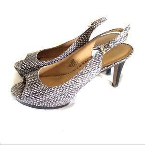 Nine West  snakeskin print high heel shoes 7.5